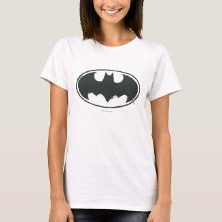 Spray-Schwarz-weißes Logo des Batman-Symbol-  T-Shirt