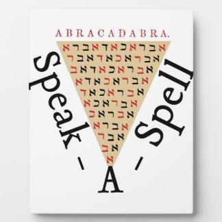 Sprechen-ein-Bann Fotoplatte