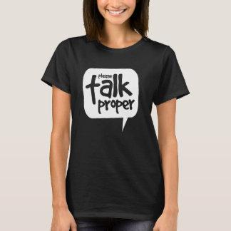Sprechen Sie bitte richtiges T-Shirt