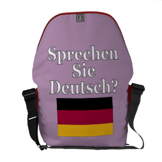 Sprechen Sie Deutsches? auf Deutsch. Flagge Kuriertasche