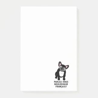 Sprechen Sie die französische niedliche Bulldogge Post-it Haftnotiz