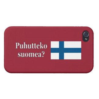 Sprechen Sie finnisches? auf finnisch. Flagge wf iPhone 4 Case
