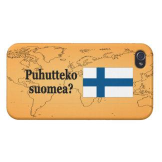 Sprechen Sie finnisches? auf finnisch. Flaggen-BF iPhone 4/4S Hülle