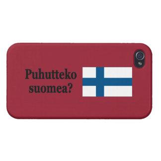 Sprechen Sie finnisches? auf finnisch. Flaggen-BF Schutzhülle Fürs iPhone 4