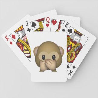 Sprechen Sie keinen schlechten Affen - Emoji Spielkarten