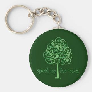 Sprechen Sie oben für Bäume - Baum Hugger Schlüsselanhänger