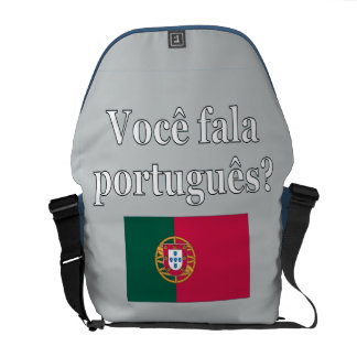Sprechen Sie Portugiesen? auf portugiesisch. Kurier Tasche
