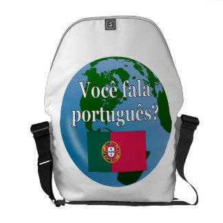 Sprechen Sie Portugiesen? auf portugiesisch. Kuriertaschen