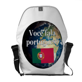 Sprechen Sie Portugiesen? Portugiesisch. Flagge u. Kurier Tasche