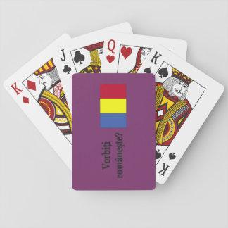 Sprechen Sie Rumänen? auf Rumänen. Flaggen-BF Spielkarten