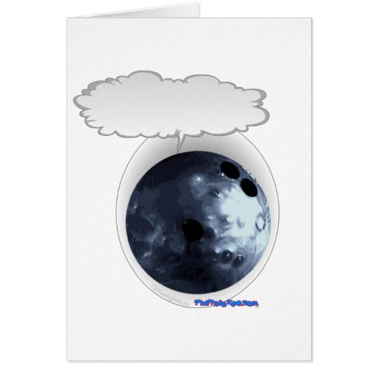 SprechenBolwing Ball Grußkarte
