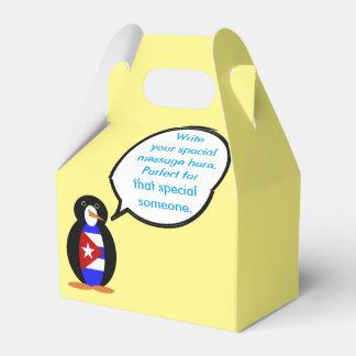 Sprechender kubanischer Flaggen-Pinguin Geschenkschachtel