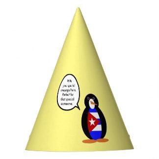 Sprechender kubanischer Flaggen-Pinguin Partyhütchen