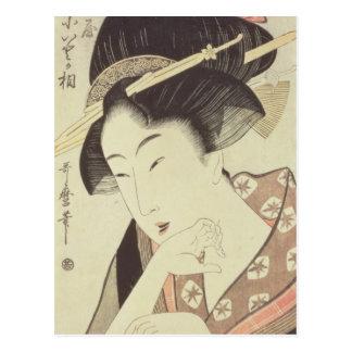 Sprengen Sie Porträt der Heldin Kioto des Itoya Postkarte