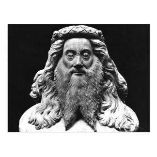 Sprengen Sie von der Begräbnis- Statue von De Postkarte