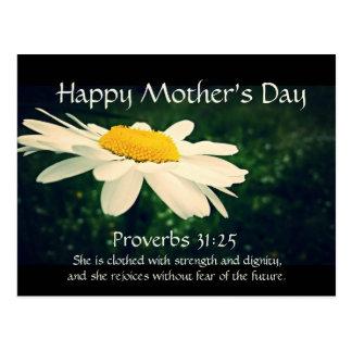 Sprichwort-31:25, der Tag der Mutter, weißes Postkarte