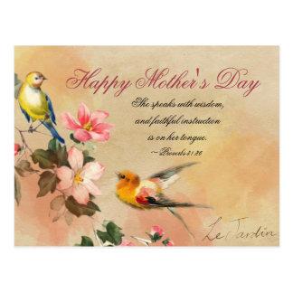 Sprichwort-31:26, Bibel-Vers, der Tag der Mutter Postkarte