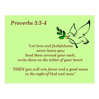 Sprichwort-3:3 - 4 Schrifts-codierte Karte