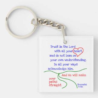 Sprichwort-3:5 &6 Keychain Schlüsselanhänger
