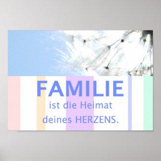 Sprichwort Bild deutsche Sprüche Familie Poster