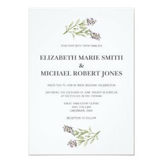 Sprig-Hochzeits-Einladungen irgendein 12,7 X 17,8 Cm Einladungskarte