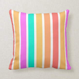 Spring colours stripes pattern design kissen