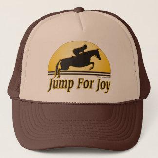 Springen Sie für Freude-Reiter-Kappe Truckerkappe