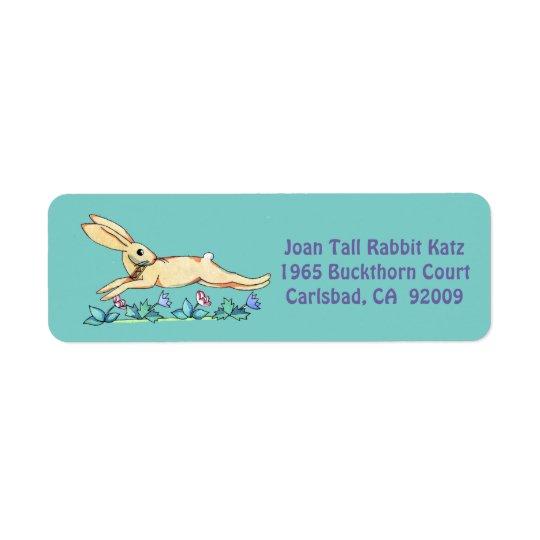 Springender Kaninchenaufkleber für Joan