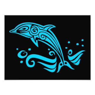 Springender Stammes- blauer Delphin Photographie