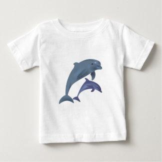 Springendes Delphinillustrations-Baby-Shirt Baby T-shirt