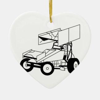 Sprint-Auto-Kontur Keramik Herz-Ornament