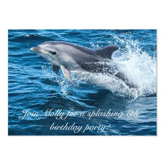 Spritzen der Delphin-Geburtstags-Einladungen Karte
