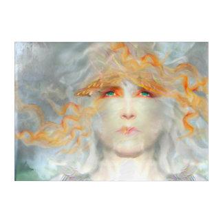 Spritzen der Farbe bilden Fantasie-Acrylwand-Kunst Acryldruck