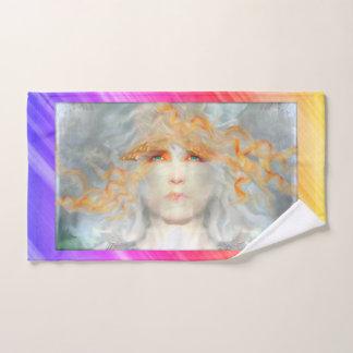 Spritzen der Farbe bilden Kunst-Fantasie Badhandtuch Set