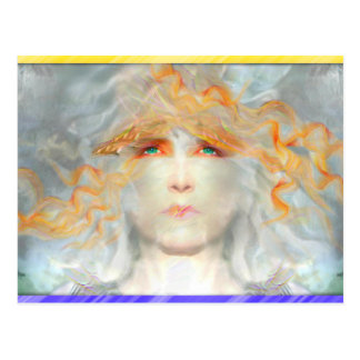 Spritzen der Farbe bilden Kunst-Fantasie Postkarte