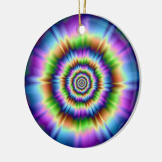 Spritzen der Farbe Keramik Ornament