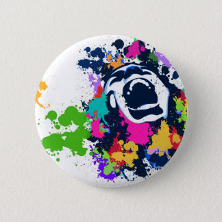 Spritzen-Schrei Runder Button 5,1 Cm