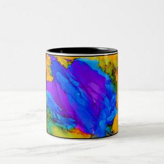 Spritzen-Tasse Zweifarbige Tasse
