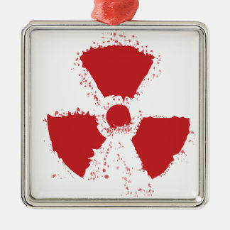 Spritzer-radioaktives Warnsymbol Silbernes Ornament