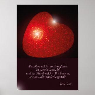 Sprüche aus der Bibel Poster
