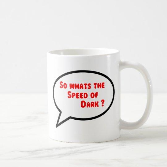 Sprüche-Geschwindigkeit der dunklen Schale Tasse