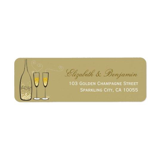 Sprudelnde Hochzeits-schicke Adressen-Etiketten Rücksende Aufkleber