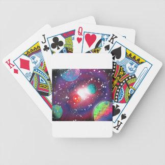 Sprühfarbe-Kunst-Raum-Galaxie-Malerei Bicycle Spielkarten