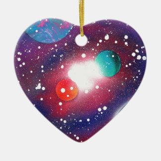 Sprühfarbe-Kunst-Raum-Galaxie-Malerei Keramik Ornament