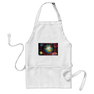 Sprühfarbe-Kunst-Raum-Galaxie-Malerei Schürze