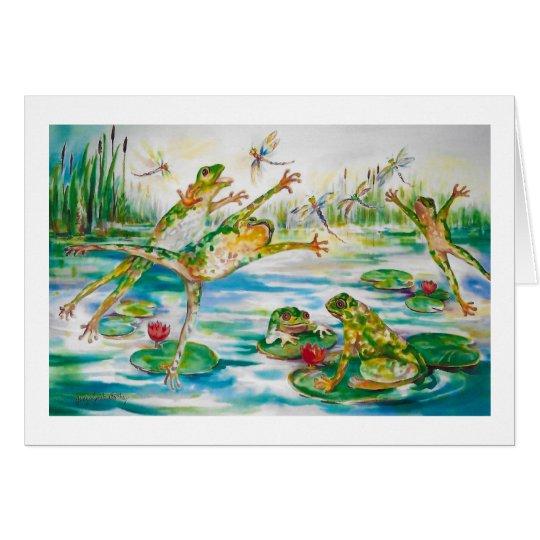 """Sprungs-Frosch-"" Gruß-Karte Grußkarte"