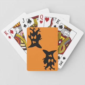 Spuk Baum Halloweens Spielkarten