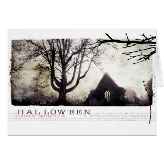 Spuk gotische Friedhofsphotographie Halloweens Grußkarte
