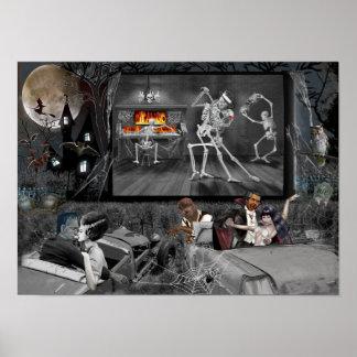 Spuk Halloween Antrieb-in Poster