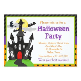 Spuk Haus-Halloween-Party Karte